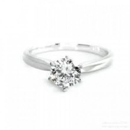 Platinum 0.50ct Six Claw Solitaire H SI Diamond Engagement Ring , P6ER0250-1